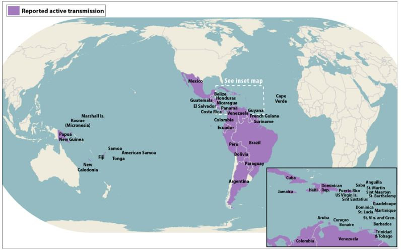 All Countries & Territories with Active Zika Virus
